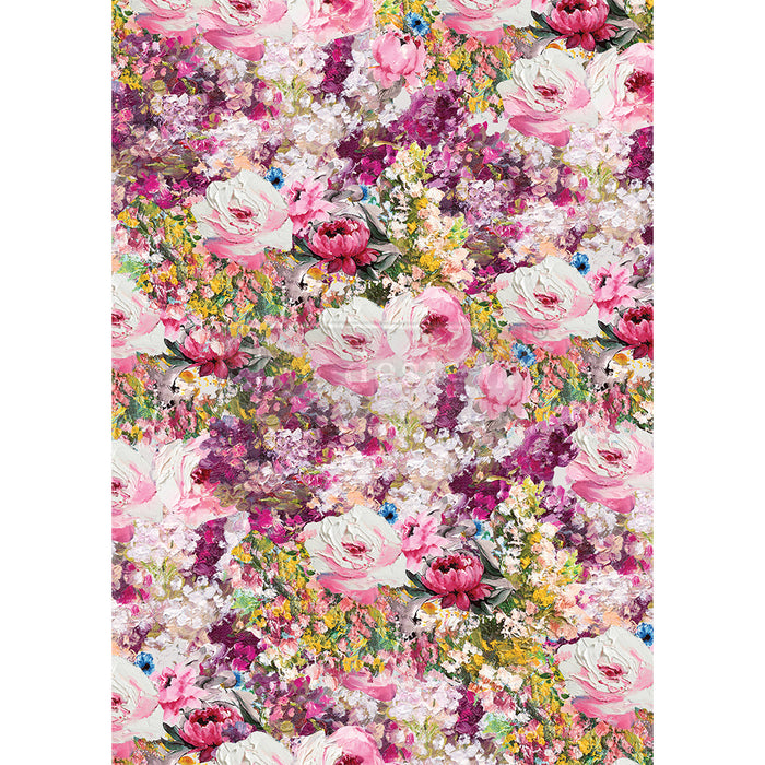 **NEW** Re-Design Prima Decor - Rice Paper - Fuchsia Meadow