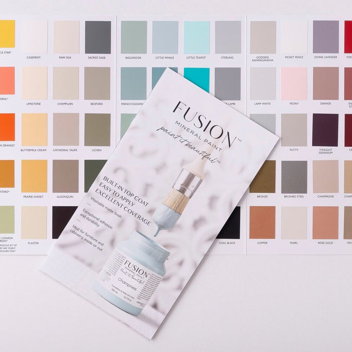 Fusion Mineral Paint True Colour Card Chart