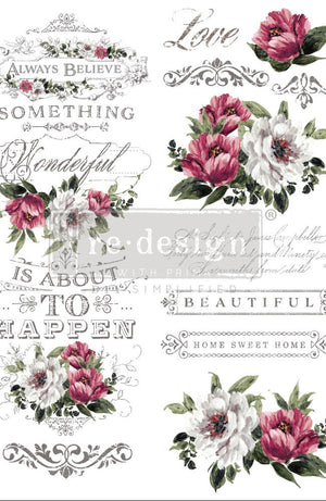 Hopeful Wishes re-design with prima  decor transfers Vintage Attic Sevenoaks uk stockist and online retailer