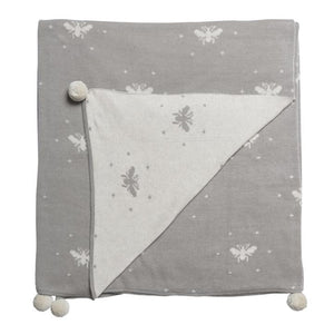 Sophie Allport - Knitted Throw - Bees