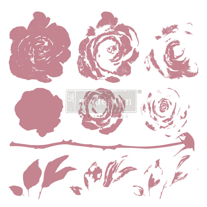 Clearly Aligned Clear Cling Stamps | Re-Design Prima Decor | Mystic Rose