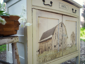 Out on the Farm re-design with prima  decor transfers Vintage Attic Sevenoaks uk stockist and online retailer