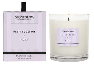 Modern Classic - Plum Blossom & Musk Candle Tumbler - Stoneglow