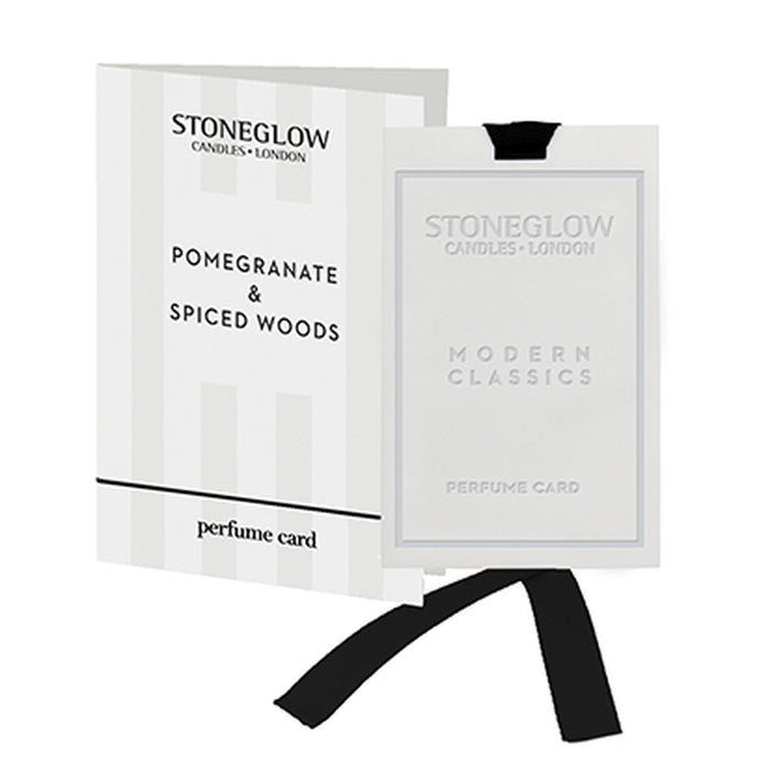 Modern Classic - Pomegranate & Spiced Woods Perfume Card - Stoneglow
