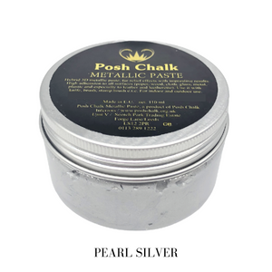 Posh chalk Paints Smooth Metallic Pastes Buy Online Uk Stockist Pearl Silver