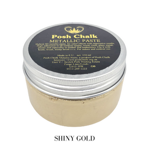 Posh chalk Paints Smooth Metallic Pastes Buy Online Uk Stockist Shiny Gold