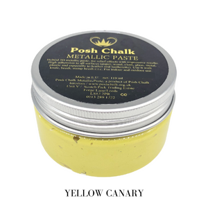 Posh chalk Paints Smooth Metallic Pastes Buy Online Uk Stockist Yellow Canary