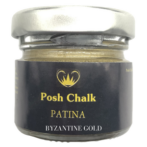 Posh chalk Paints Patina Metallic Wax Buy Online Uk Stockist Byzantine Gold
