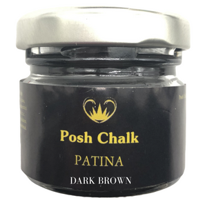 Posh chalk Paints Patina Metallic Wax Buy Online Uk Stockist Dark Brown