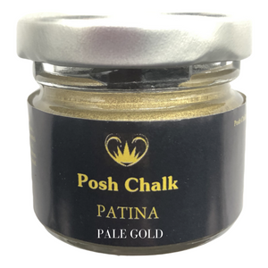 Posh chalk Paints Patina Metallic Wax Buy Online Uk Stockist Pale Gold  Edit alt text