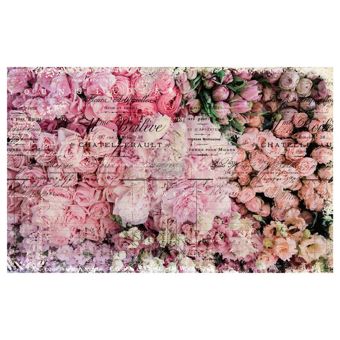 "'Flower Market' Decoupage Tissue Paper | Redesign With Prima | 19"" X 30"""