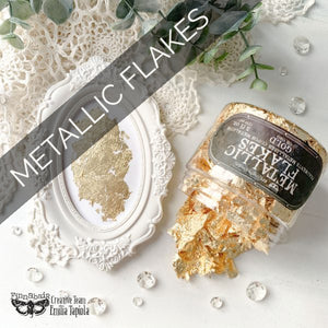 NEW - Metal Flakes | Prima Art Ingredients | 150ml available from Approved Online Retailer and Official UK Stockist Copper Silver Gold Sparkling Steampunk Vintage
