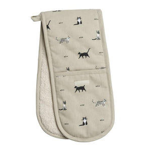Sophie Allport - Double Oven Gloves - Purrfect Cats
