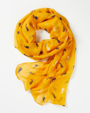 Fable - Scarf - Rabbit Silhouette - Yellow