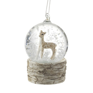 Reindeer bauble Snow Globe available to buy online from official UK online retailer and approved stockist Vintage Attic Sevenoaks, Kent