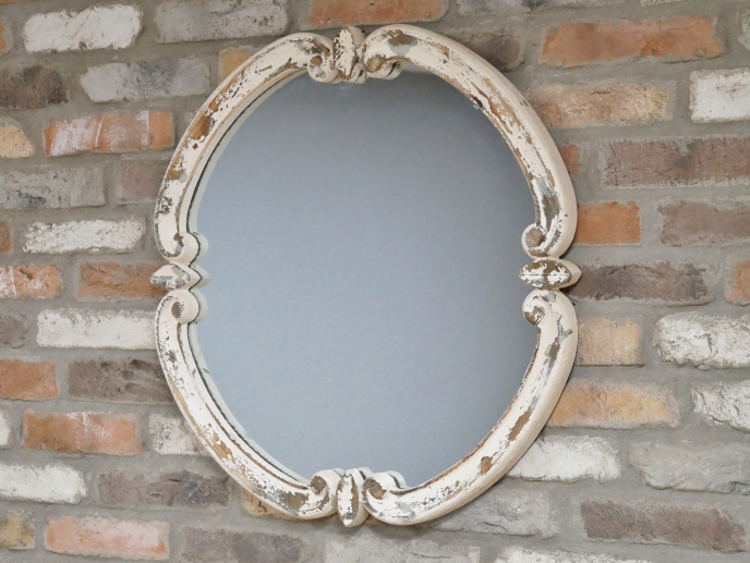 Rustic Ornate Distressed Wooden Mirror