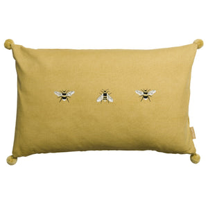 01778428210  Sophie Allport embroidered bees cushion available to buy online from official UK online retailer and approved stockist Vintage Attic Sevenoaks, Kent