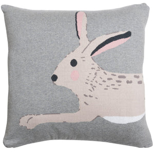 Sophie Allport knitted hare cushion available to buy online from official UK online retailer and approved stockist Vintage Attic Sevenoaks, Kent