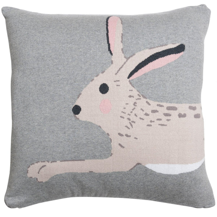 Hare Knitted Cushion - Grey - Sophie Allport