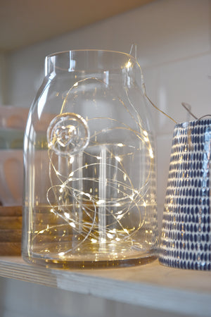 LED silver lights wire string - available to buy online from official UK online retailer and approved stockist Vintage Attic Sevenoaks, Kent