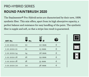 STAALMEESTER Hybrid Pro Round Paint Brush - Series 2020