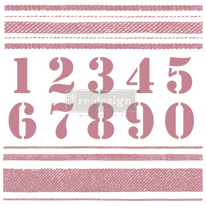 Clearly Aligned Clear Cling Stamps | Re-Design Prima Decor | Stripes