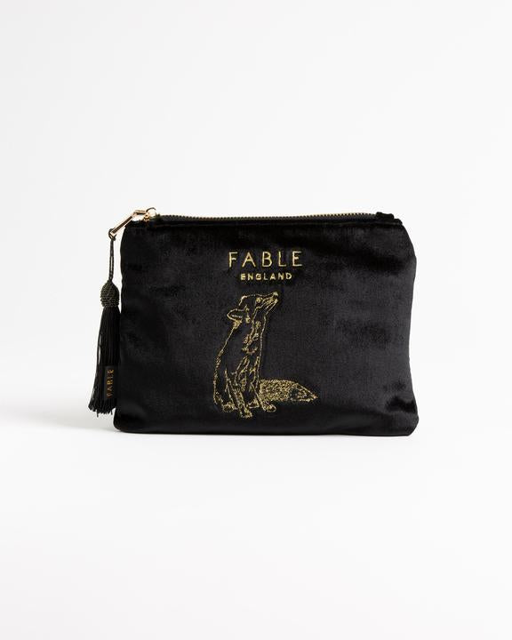 Fable - Make Up Bag - Velveteen Fox Flat - Black