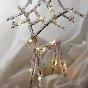 LED white table light up reindeer - available to buy online from official UK online retailer and approved stockist Vintage Attic Sevenoaks, Kent