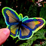 Butterfly Holographic Sticker
