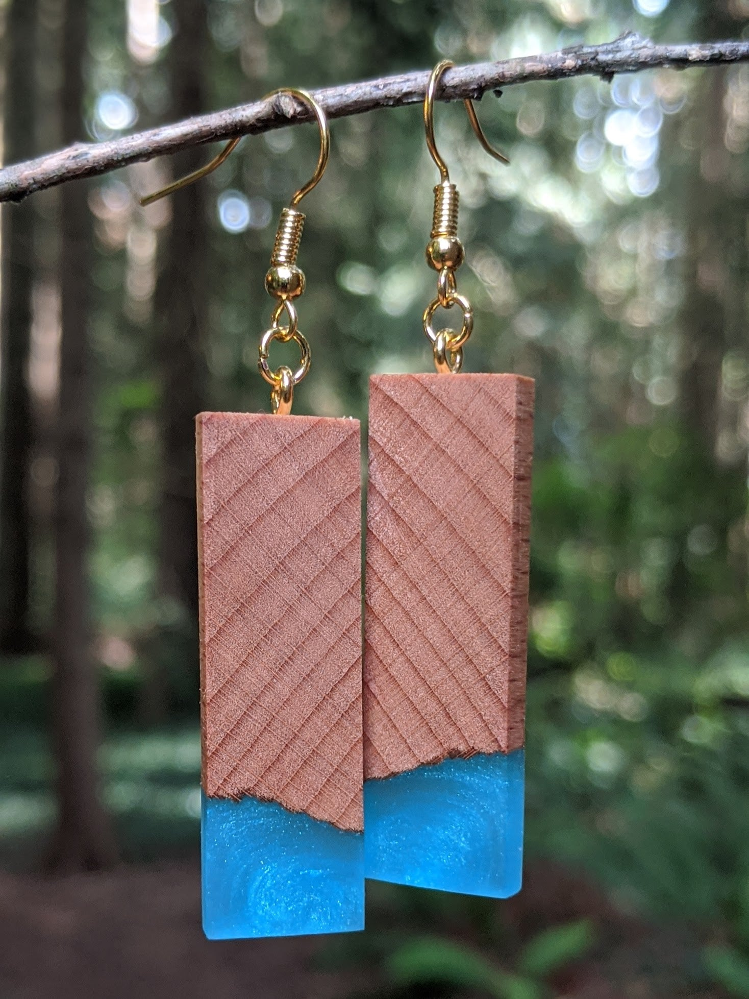 Wood & Resin Earrings #2301 - Contour Creative