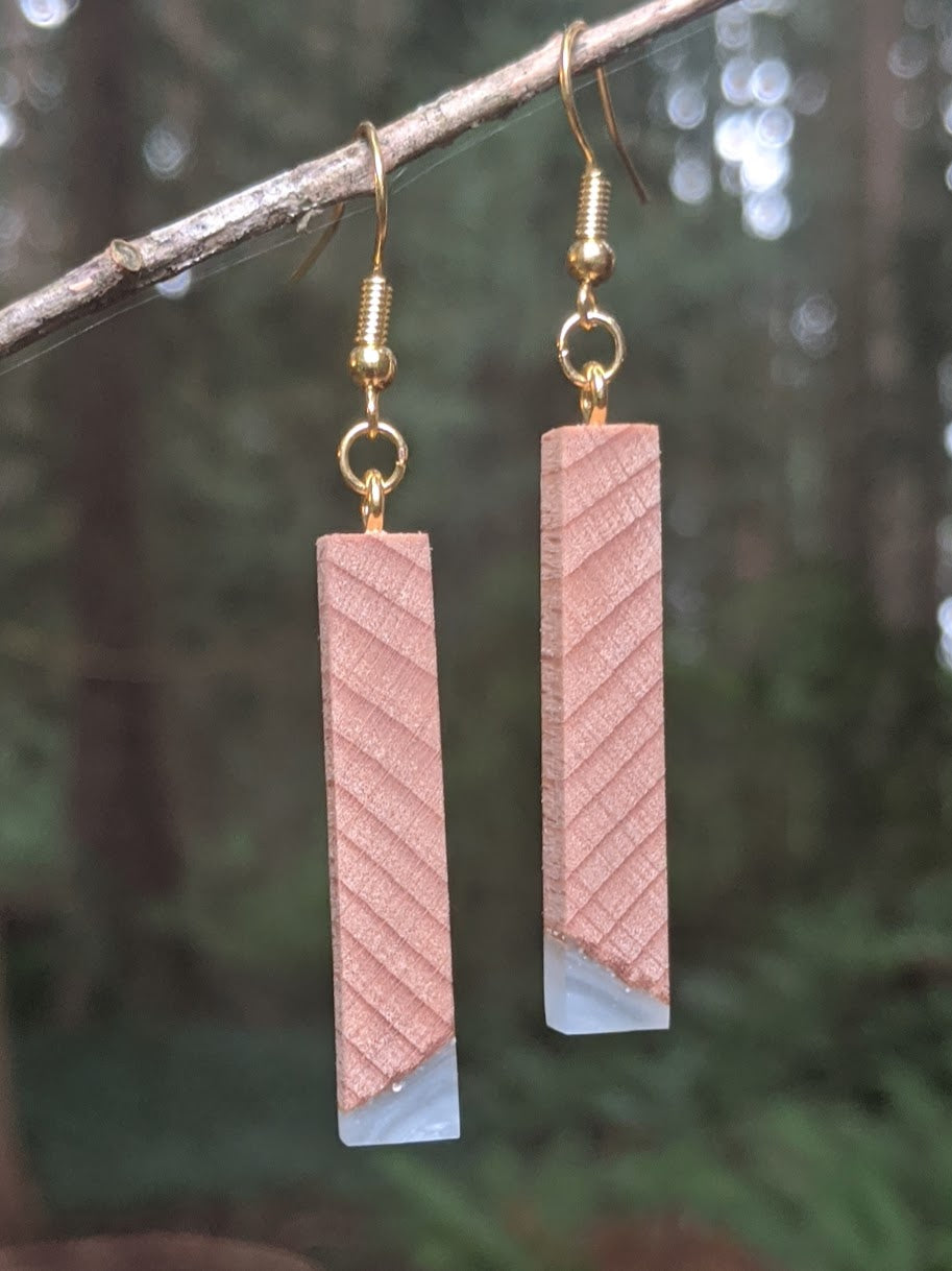 Wood & Resin Earrings #2303 - Contour Creative