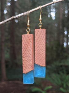 Wood & Resin Earrings #2304 - Contour Creative