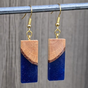 Wood & Resin Earrings #2305