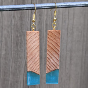 Wood & Resin Earrings #2307