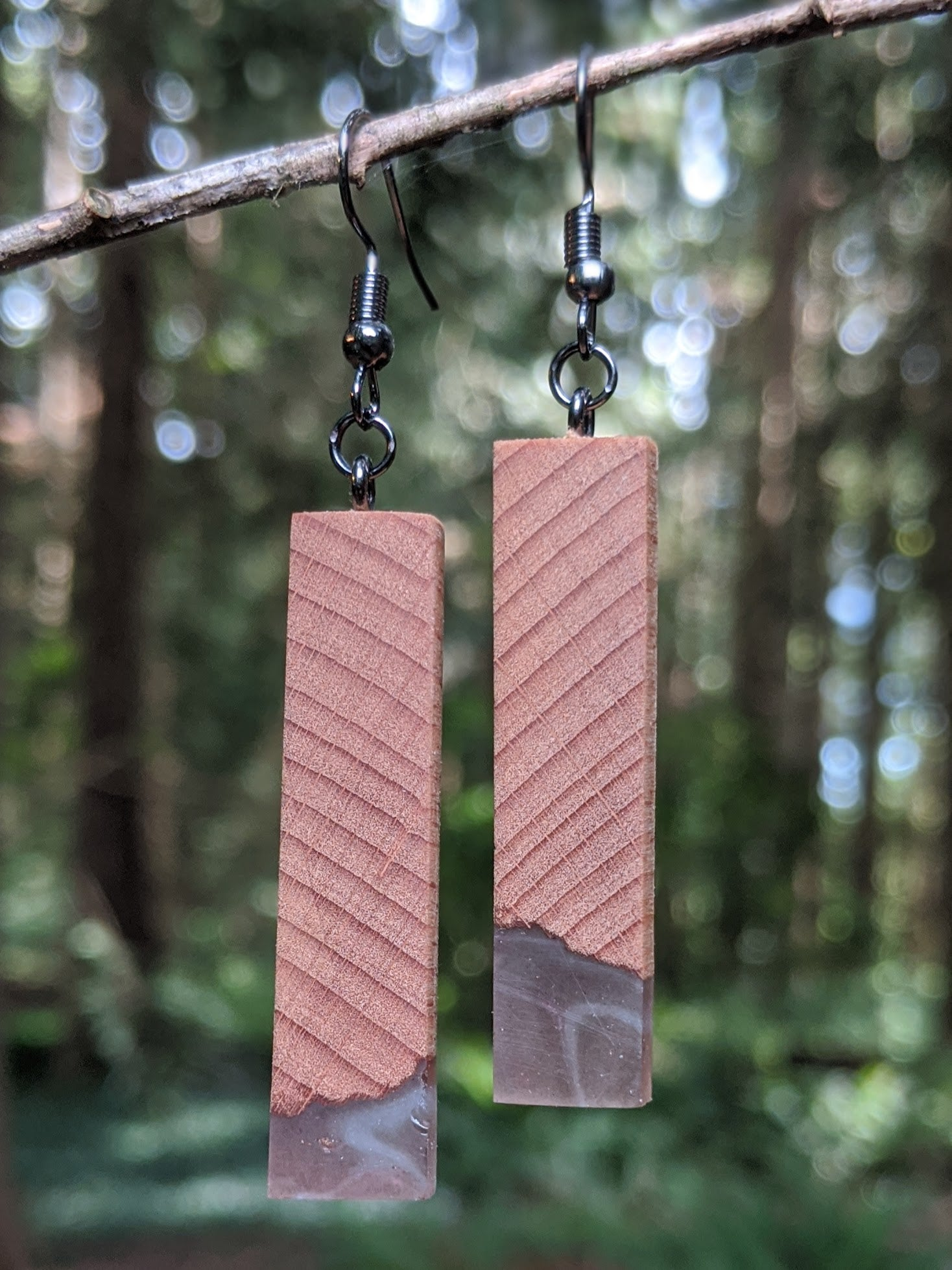 Wood & Resin Earrings #4502 - Contour Creative