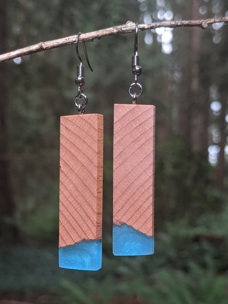 Wood & Resin Earrings #4509 - Contour Creative