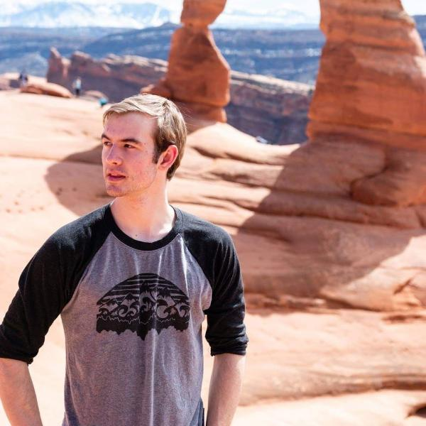 Mountains & Water Unisex Baseball Tee - Contour Creative