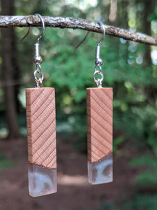 Wood & Resin Earrings #7801 - Contour Creative
