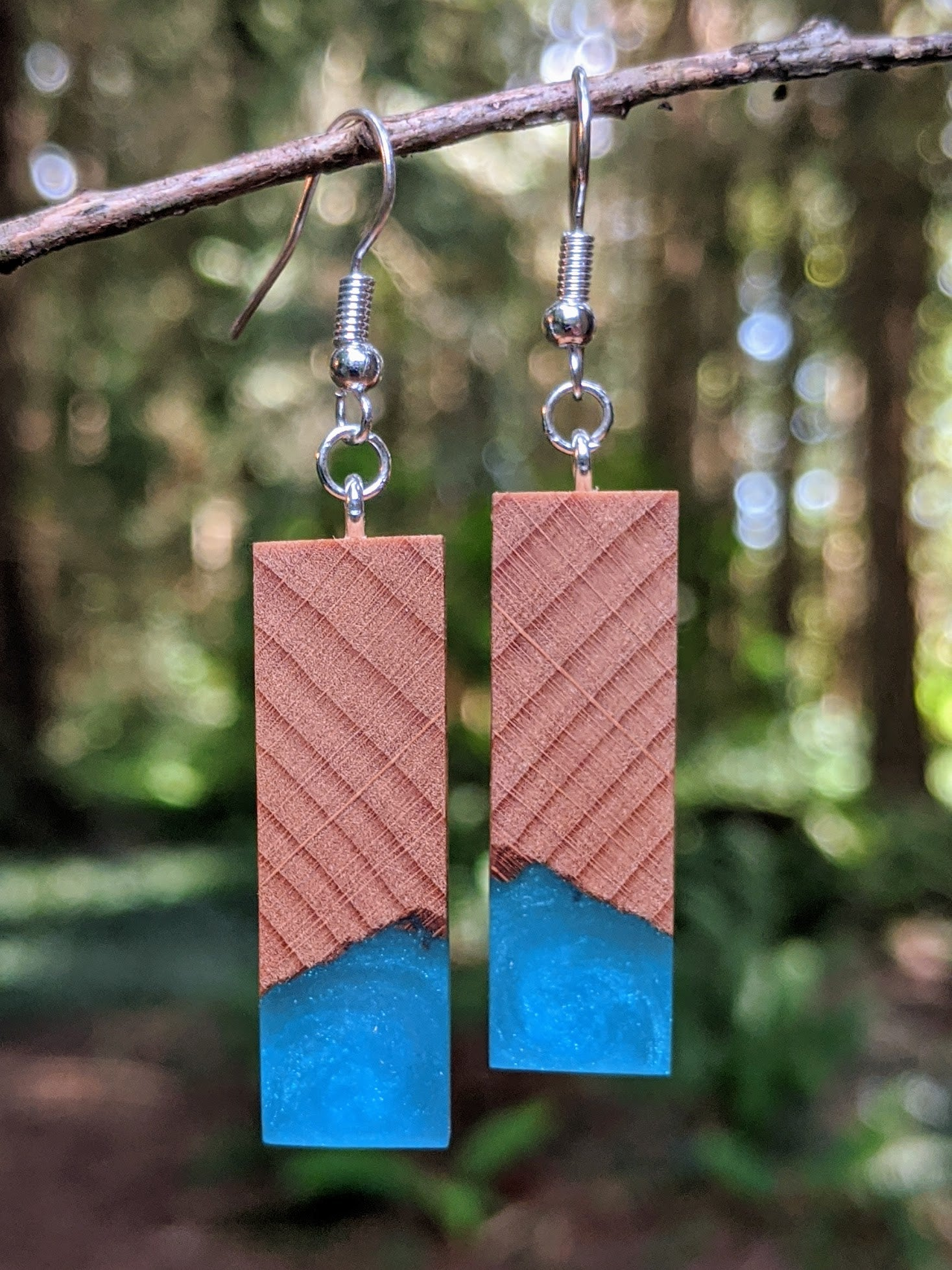 Wood & Resin Earrings #7805 - Contour Creative