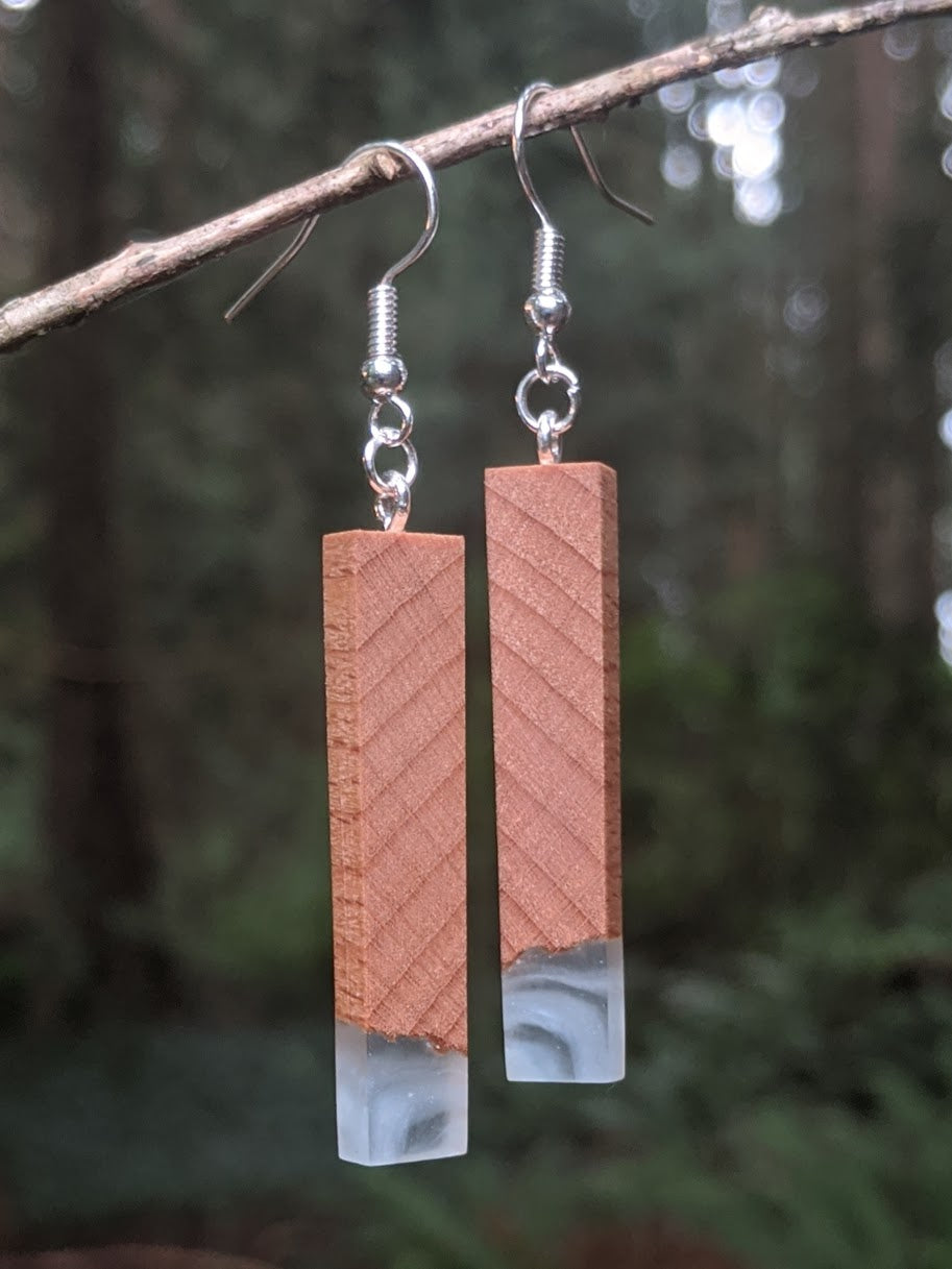 Wood & Resin Earrings #7806 - Contour Creative
