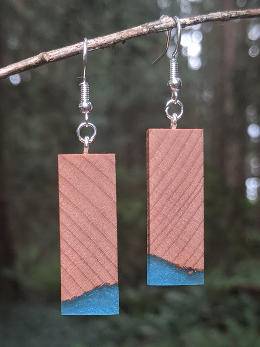 Wood & Resin Earrings #7807 - Contour Creative