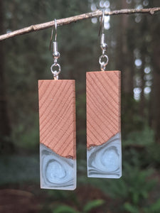 Wood & Resin Earrings #7808 - Contour Creative