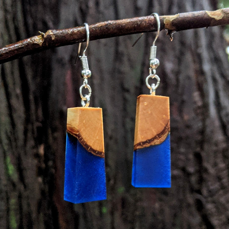 Wood & Resin Earrings #7813