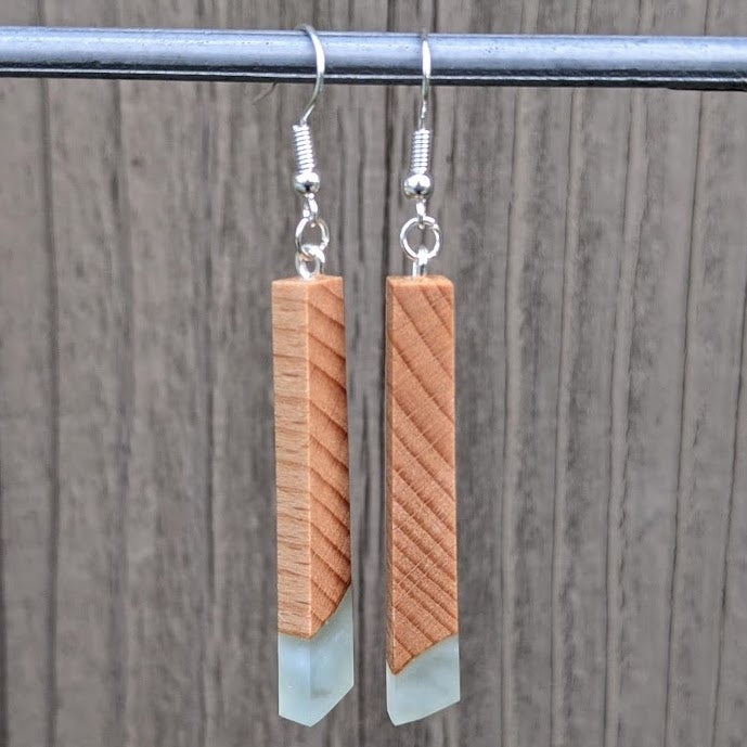 Wood & Resin Earrings #7815