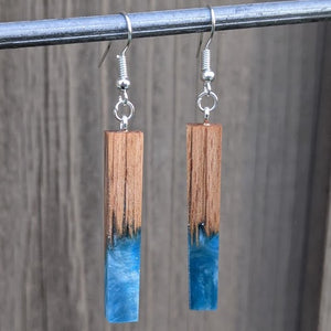 Wood & Resin Earrings #7819
