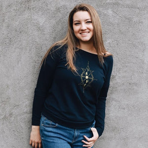 Moons Ladies Long Sleeve - Contour Creative