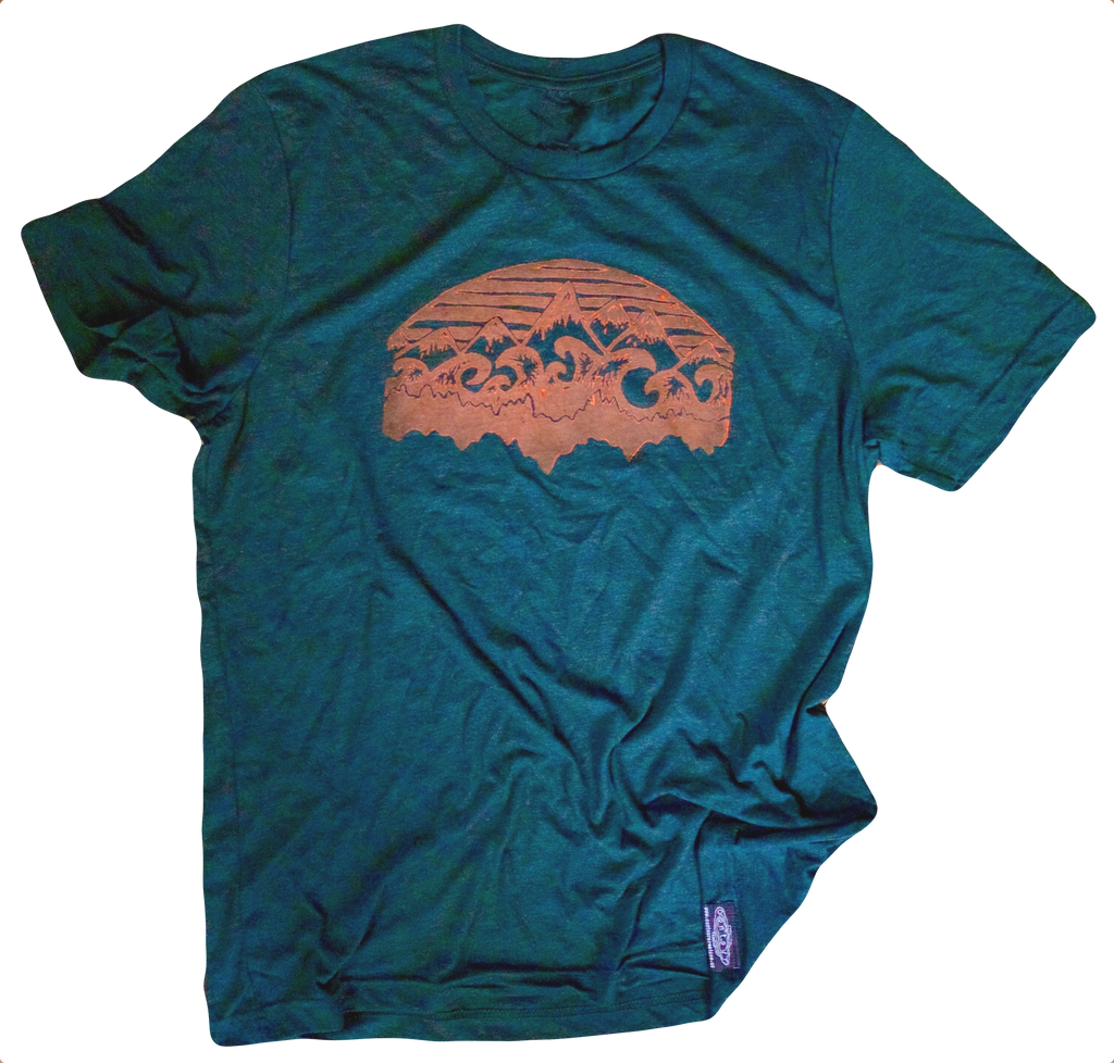 Mountains & Water Unisex Tee - Contour Creative