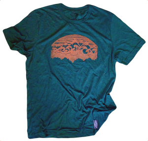 Emerald Mountains & Water Unisex Tee - Contour Creative