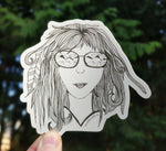 Adventure Girl Sticker - Contour Creative