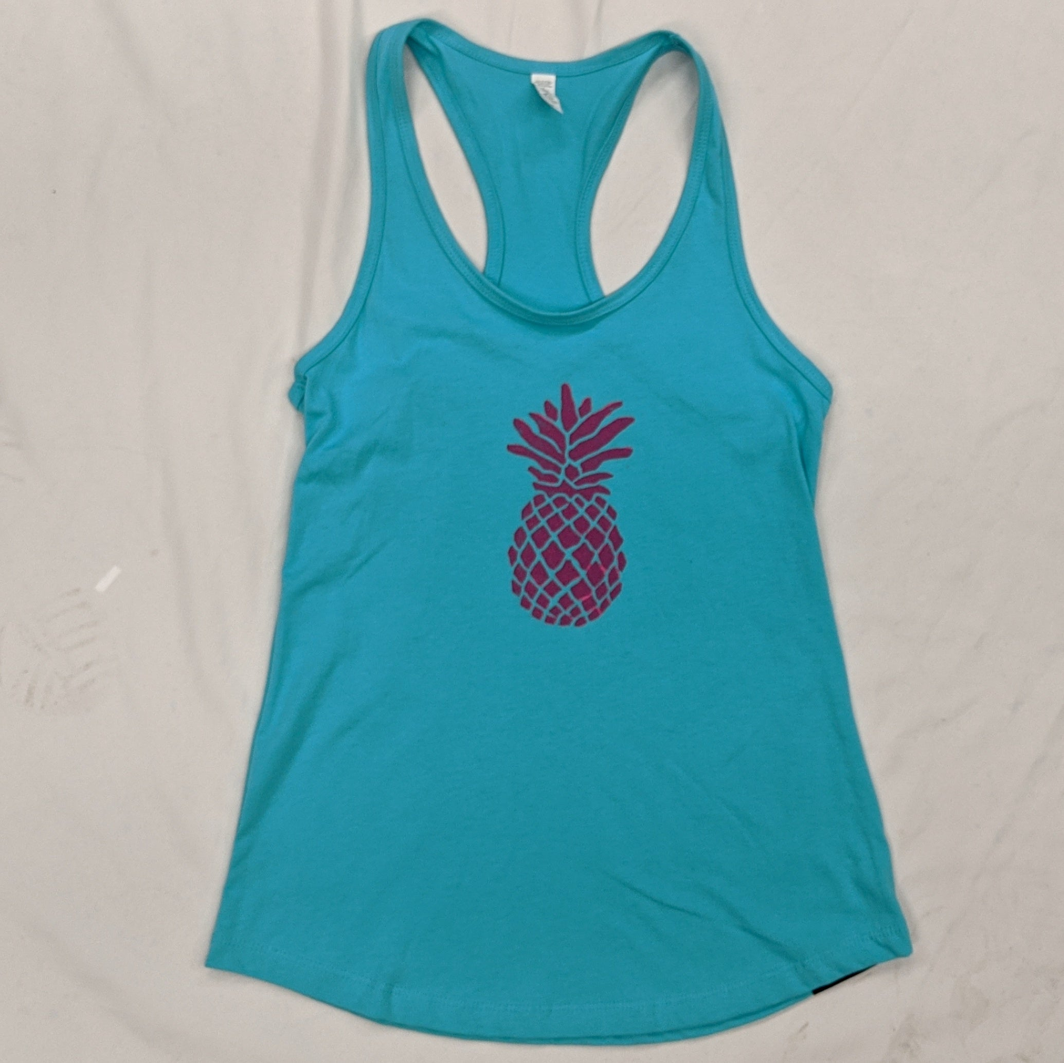 Pineapple Ladies Racerback Tank - Contour Creative